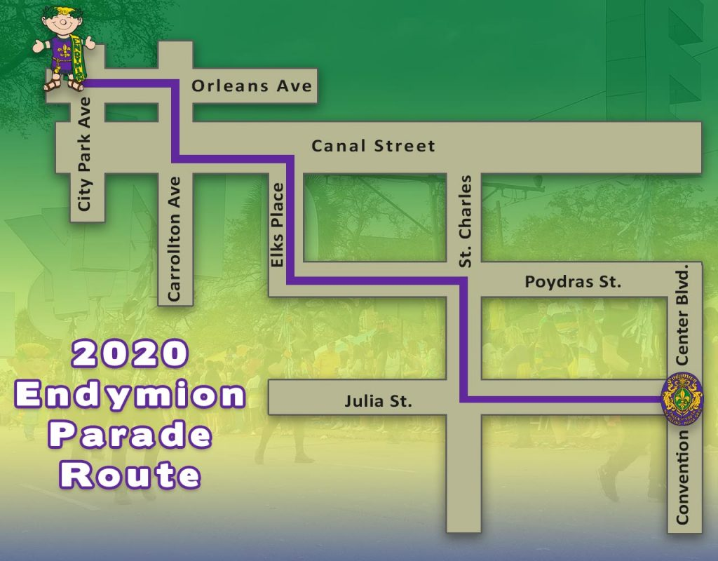 2020 Endymion Parade Route